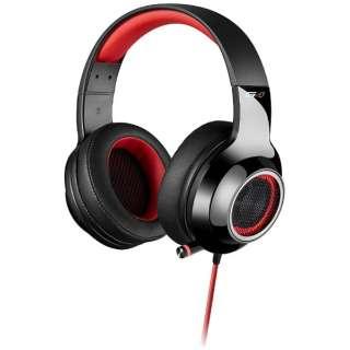 ゲーミングヘッドセット レッド [USB /両耳 /ヘッドバンドタイプ]