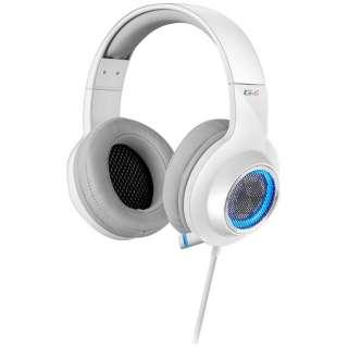 ゲーミングヘッドセット ホワイト [USB /両耳 /ヘッドバンドタイプ]