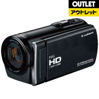 【アウトレット品】 ビデオカメラ [メモリ 32GB/フルハイビジョン] SCDC-01B ブラック 【生産完了品】