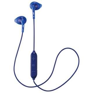 ブルートゥースイヤホン カナル型 ブルー HA-EB7BT-A [リモコン・マイク対応 /ワイヤレス(左右コード) /Bluetooth]