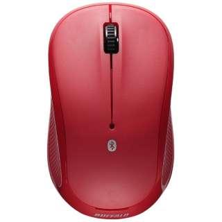 BSMRB058RD マウス レッド [IR LED /3ボタン /Bluetooth /無線(ワイヤレス)]