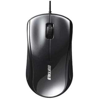 マウス ブラック BSMLU108BK [レーザー /有線 /3ボタン /USB]
