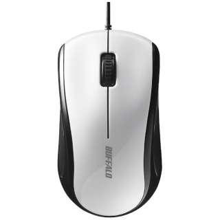 マウス ホワイト BSMLU108WH [レーザー /有線 /3ボタン /USB]