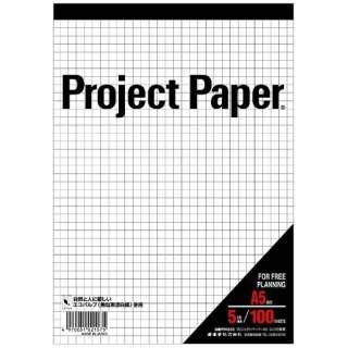 プロジェクトペーパーA5 5ミリ方眼 PPA55S