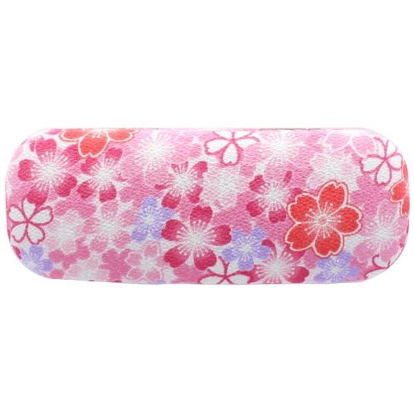 宇仁繊維ファッション ハードメガネケース舞桜 ピンク
