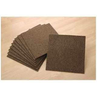 Rag adsorption tile carpet suddenly stripe (Class 40*40*0.6cm/ten pieces/BRAUN)
