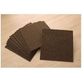 Plain rag adsorption tile carpet suddenly (Class 40*40*0.6cm/ten pieces/BRAUN)
