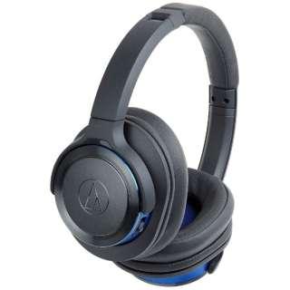 ブルートゥースヘッドホン ガンメタリックブルー ATH-WS660BT GBL [リモコン・マイク対応 /Bluetooth]