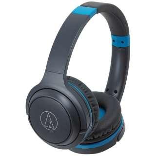 ブルートゥースヘッドホン グレーブルー ATH-S200BT [リモコン対応 /Bluetooth]