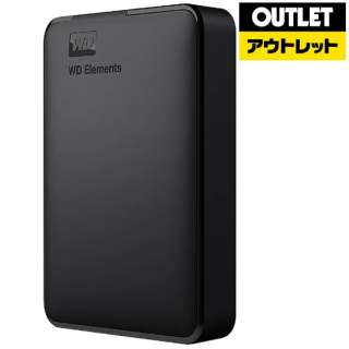【アウトレット品】 WDBU6Y0020BBK-WESN 外付けHDD ブラック [ポータブル型 /2TB] 【生産完了品】