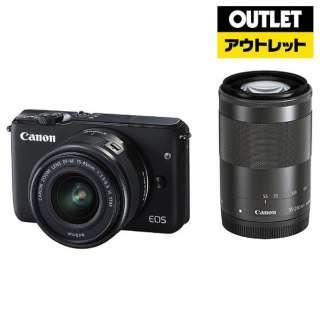 【アウトレット品】 ミラーレス一眼カメラ  EOS M10[ダブルズームキット] ブラック 【外装不良品】