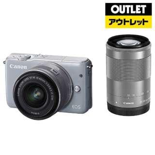 【アウトレット品】 ミラーレス一眼カメラ  EOS M10[ダブルズームキット] グレー 【外装不良品】