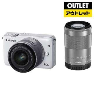 【アウトレット品】 ミラーレス一眼カメラ  EOS M10(ダブルズームキット) ホワイト 【外装不良品】