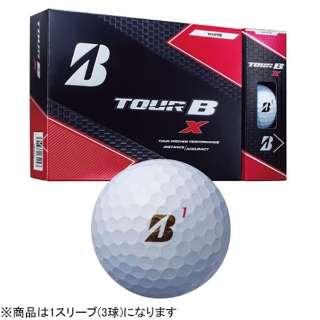 【スリーブ単位販売になります】ゴルフボール TOUR B X《1スリーブ(3球)/パールホワイト》 8BGXJ 【オウンネーム非対応】
