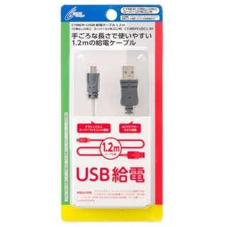 CYBER・USB給電ケーブル(クラシックミニ スーパーファミコン用) 1.2m グレー CY-MSFCUSC1-GY