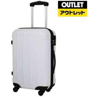 【アウトレット品】 スーツケース ESC2004-50 ホワイト 約31L 【生産完了品】