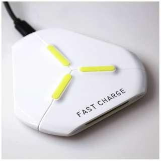 ワイヤレス充電器[Qi対応] Qi対応 Wireless Charging Triangle CONSON ホワイト WC-FC-T-WH [ワイヤレスのみ]