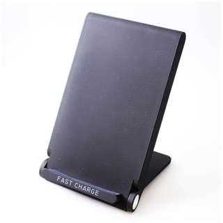 ワイヤレス充電器[Qi対応]CONSON Qi対応 Wireless Charging Stand WC-FC-S-BK ブラック [ワイヤレスのみ]