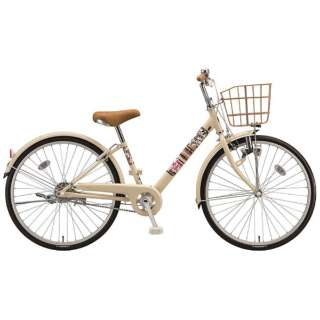 24型 子供用自転車 エコパルモカ(E.Xエッグシェルベージュ/シングル) EPM40【2018年モデル】 【組立商品につき返品不可】