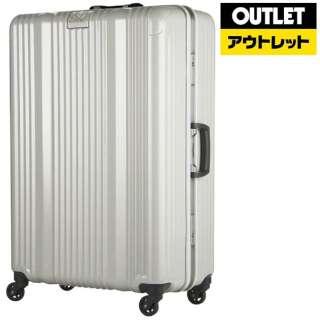 【アウトレット品】 フレームタイプスーツケース 55L ホワイトカーボン 6026-58-WHCB [TSAロック搭載] 【生産完了品】