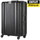 【アウトレット品】 フレームタイプスーツケース 71L カーボン 6026-64-CB [TSAロック搭載] 【生産完了品】