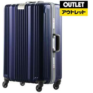 【アウトレット品】 フレームタイプスーツケース 71L ネイビー 6026-64-NV [TSAロック搭載] 【生産完了品】