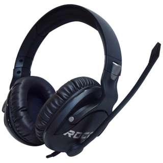 ROC-14-622-AS ゲーミングヘッドセット Khan Pro ブラック [φ3.5mmミニプラグ /両耳 /ヘッドバンドタイプ]