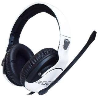 ROC-14-621-AS ゲーミングヘッドセット Khan Pro ホワイト [φ3.5mmミニプラグ /両耳 /ヘッドバンドタイプ]