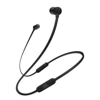 ブルートゥースイヤホン カナル型 ブラック JBLT110BTBLKJN [リモコン・マイク対応 /ワイヤレス(ネックバンド) /Bluetooth]
