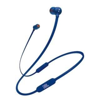 bluetooth イヤホン カナル型 T110BT ブルー JBLT110BTBLUJN [リモコン・マイク対応 /ワイヤレス(ネックバンド) /Bluetooth]