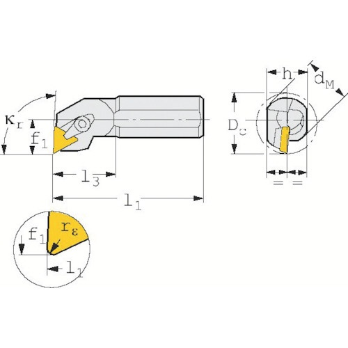 T Max S ポジチップ用ボーリングバイト S16R-CTFPR 11