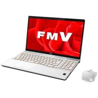 FMVA77B3W ノートパソコン LIFEBOOK(ライフブック) プレミアムホワイト [15.6型 /intel Core i7 /HDD:1TB /SSD:128GB /メモリ:8GB /2017年11月モデル]