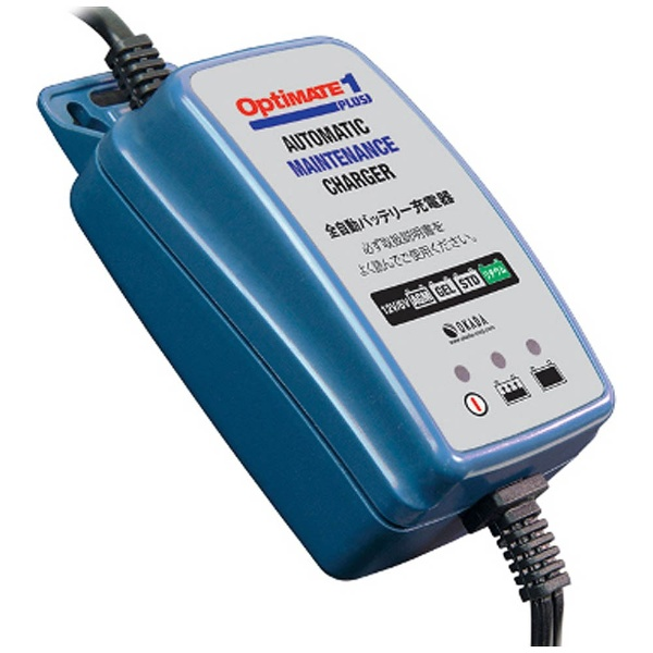 テックメイト バイク用バッテリー充電器 6V/12V鉛バッテリー 12Vリチウムイオンバッテリー対応 OptiMate1 PLUS