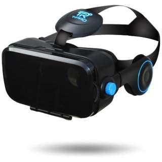 ヘッドセット一体型VRゴーグル ブラック TVR-50BK(FaC) スマートフォン用[4.0~6.0インチ]
