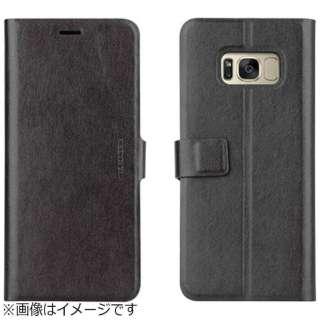 Galaxy Note8用 手帳型ケース 薄型PU Finura Cierre Collection ブラック VIVA MADRID GN8FC-FCEBLK