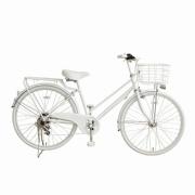 26型 自転車 amadana TAG Label citybike(ツヤケシホワイト/6段変速) ATB266 【ビックカメラグループオリジナル】 【組立商品につき返品不可】