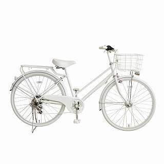 26型 自転車 amadana citybike(ツヤケシホワイト/6段変速) ATB266 【組立商品につき返品不可】