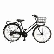 26型 自転車 amadana TAG label citybike(ツヤケシブラック/6段変速) ATB266 【ビックカメラグループオリジナル】 【組立商品につき返品不可】