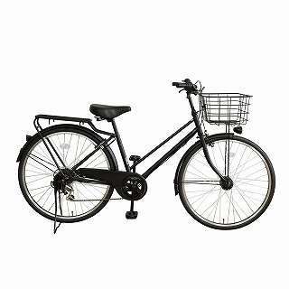 26型 自転車 amadana citybike(ツヤケシブラック/6段変速) ATB266 【組立商品につき返品不可】