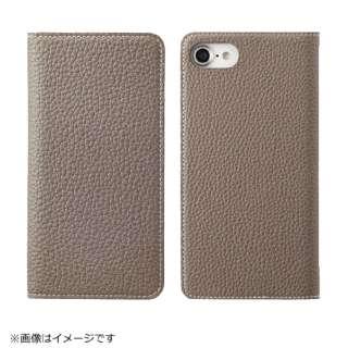 iPhone 8用 手帳型レザーケース BONAVENTURA German Togo leather diary case グレージュ BOTD8-GG-RT
