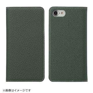 iPhone 8用 手帳型レザーケース BONAVENTURA German Togo leather diary case グリーン BOTD8-MG-RT
