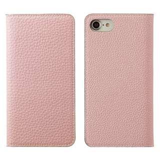 iPhone 8用 手帳型レザーケース BONAVENTURA German Togo leather diary case ピンク BOTD8-P-K_-RT