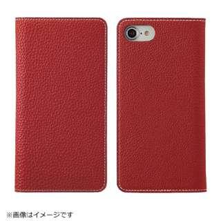 iPhone 8用 手帳型レザーケース BONAVENTURA German Togo leather diary case レッド BOTD8-RD-RT