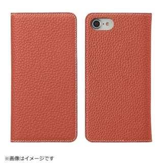 iPhone 8用 手帳型レザーケース BONAVENTURA German Togo leather diary case オレンジ BOTD8-OR-RT