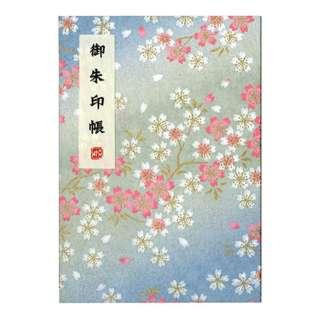 御朱印帳 桜柄・水色 LH10-4