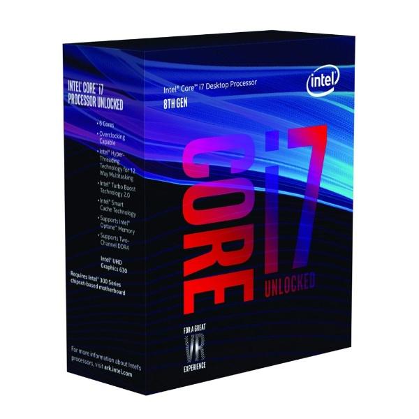 Core i7 8700K BOX 製品画像