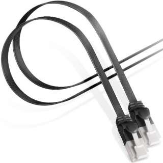LD-GFAT/BK10 LANケーブル ブラック [1m /カテゴリー6A /フラット]