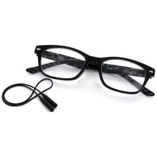 老眼鏡 ライブラリーコンパクト 5086(ブラック×チェック柄/+3.00)