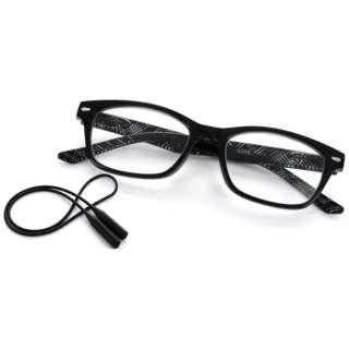 老眼鏡 ライブラリーコンパクト 5086(ブラック×チェック柄/+3.50)