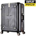 【アウトレット品】 スーツケース フレーム H100ラフカーボンブラックシルバー 6707-60-RBKSL 75L 【外装不良品】